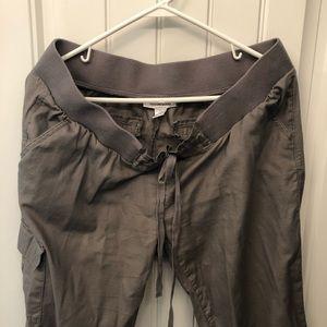 Maternity Cargo Crop Pants